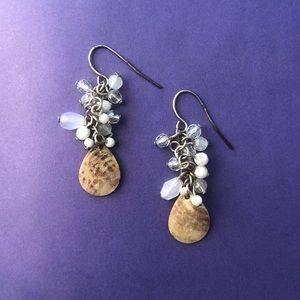 Vintage earrings with shells
